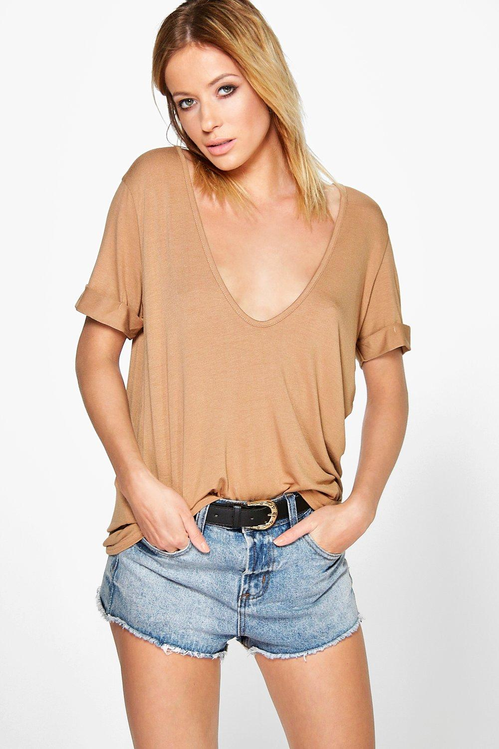 Steph Extreme Scoop Front Oversized Tee