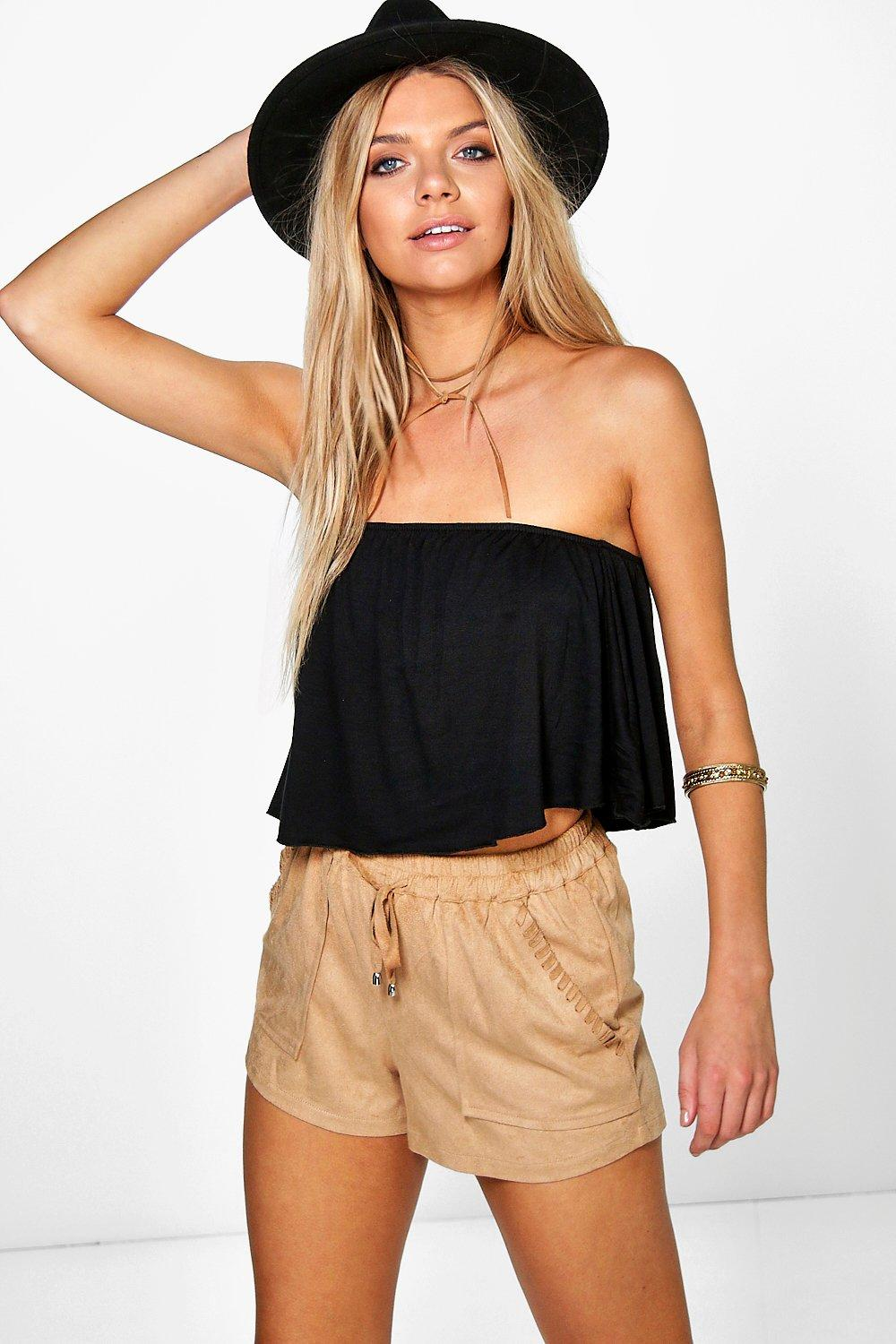 Amanda Double Layer Frill Tube Top