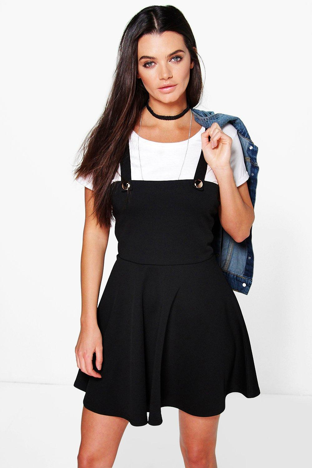Pinafore Skater Dress black