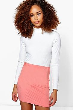Keeva Suedette Bodycon Mini Skirt