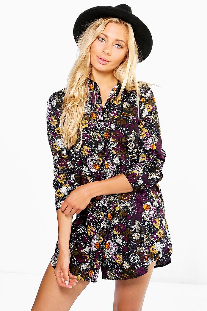 Elizee Floral Shirt Dress
