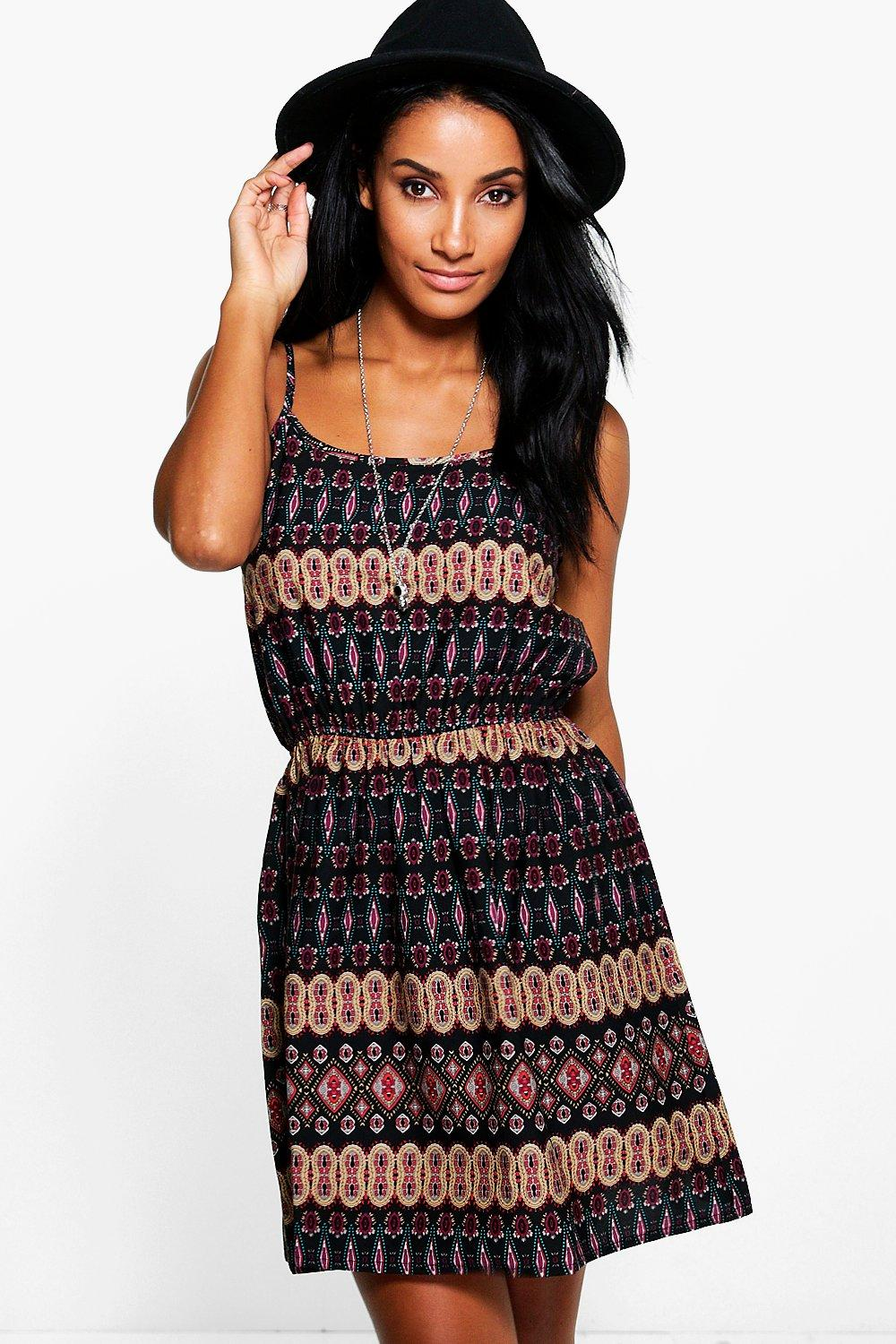 Alaina Paisley Print Strappy Sun Dress