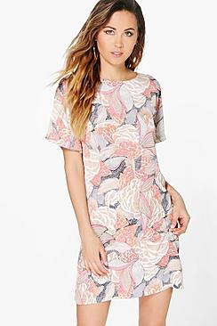 Romica Floral Cap Sleeve Shift Dress