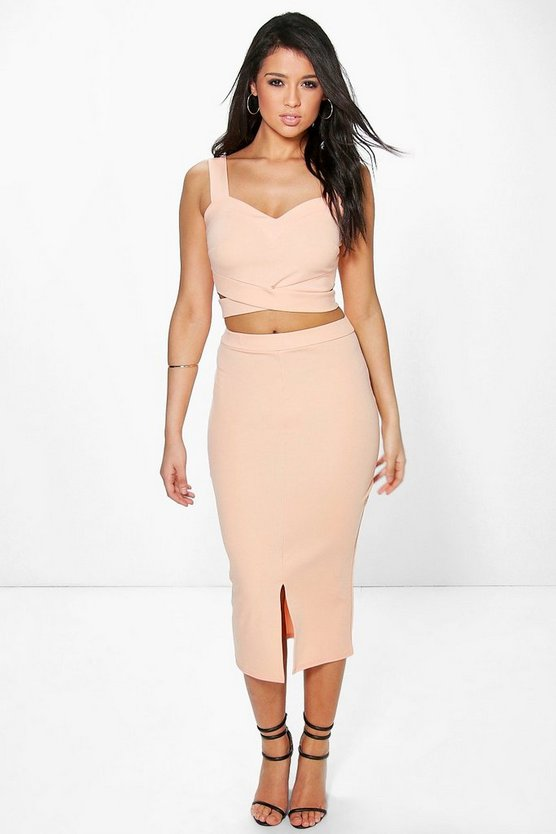 Emma Wrap Top & Midaxi Skirt Co-Ord Set