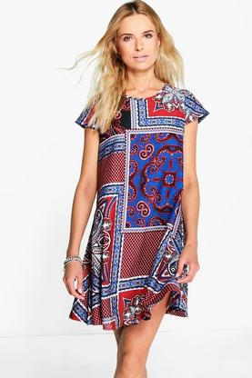 Lorelai Paisley Print Cap Sleeve Shift Dress