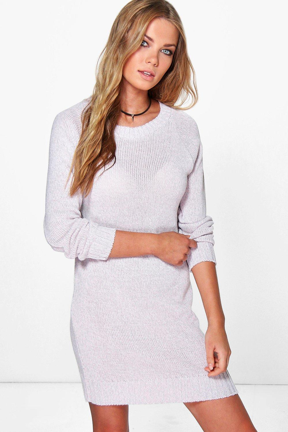 Lara Twisted Marl Knit Jumper Dress