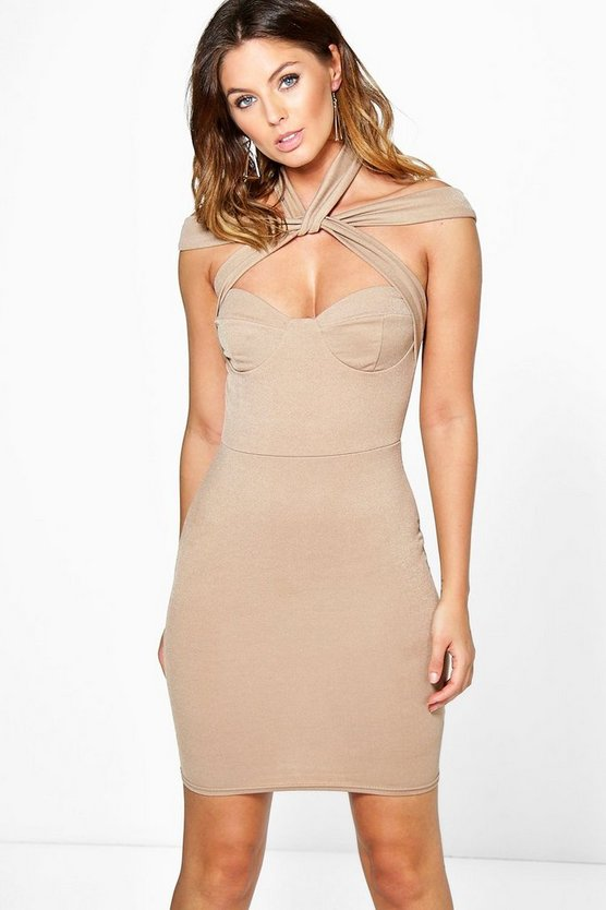 Sofia Strappy Detail Bodycon Dress