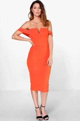 Cara Off The Shoulder Midi Dress