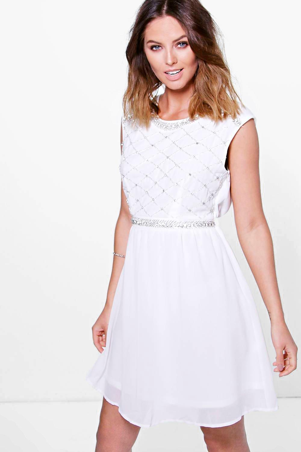 Boutique Sara Embellished Skater Dress