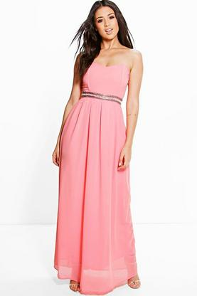 Boutique Ria Embellished Waist Maxi Dress
