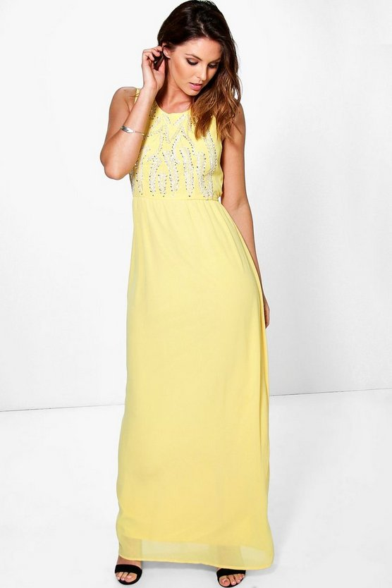 Boutique Esther Embellished Maxi Dress