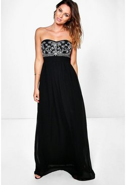 Boutique Mona Embellished Maxi Dress