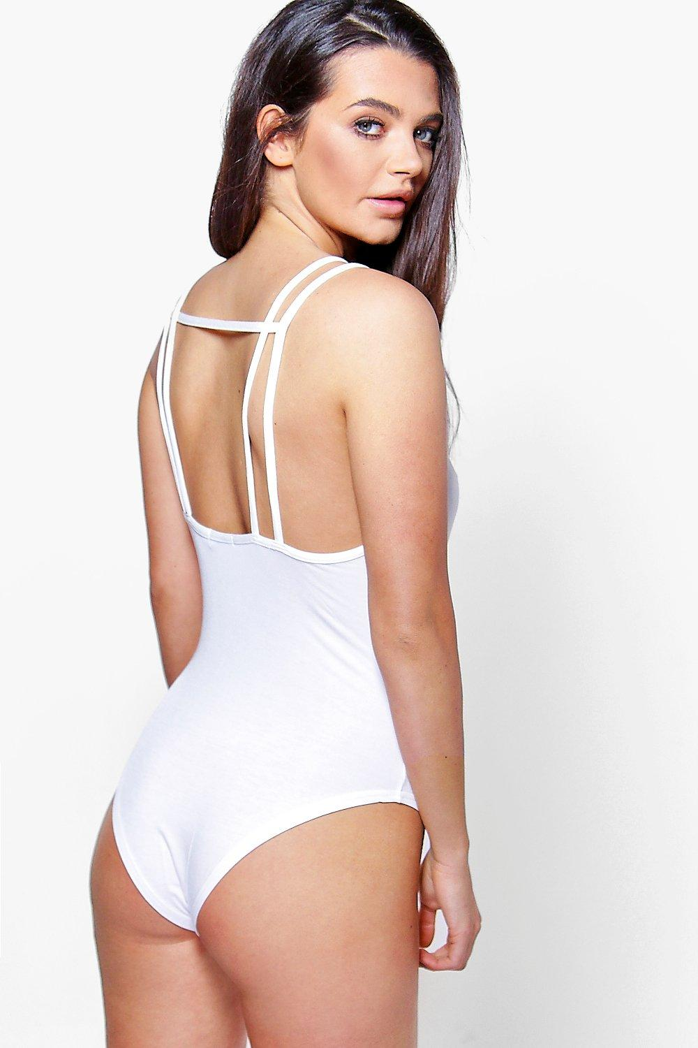 Lexi Double Strap Square Open Back Body