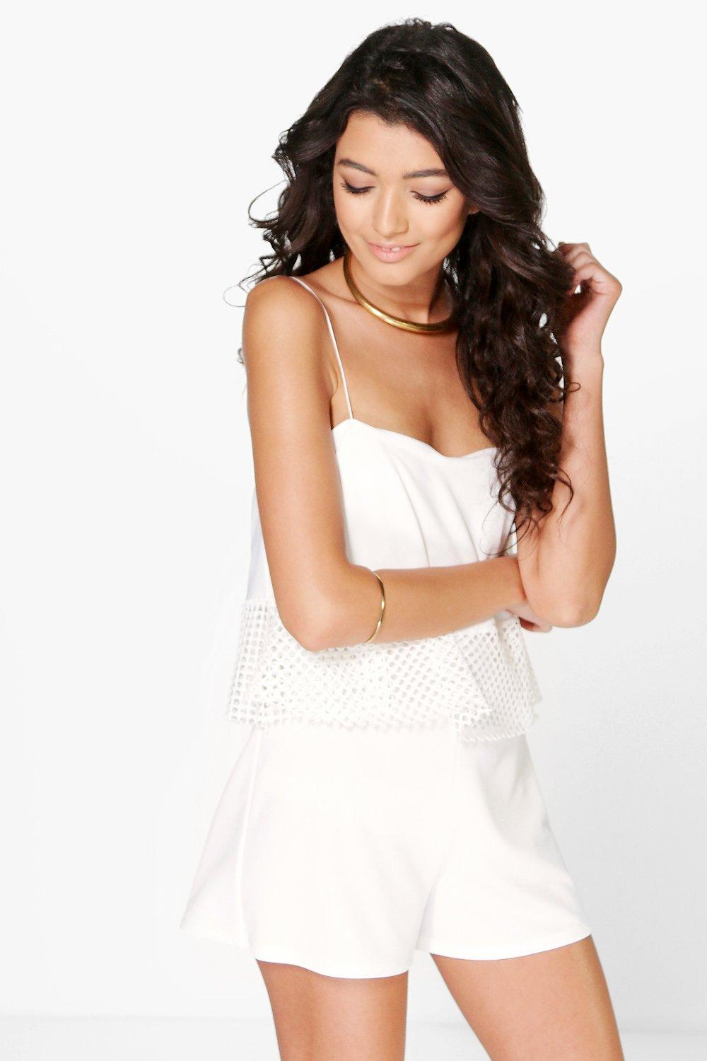 Lilly Crochet Trim Swing Playsuit