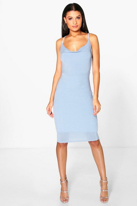 Reeva Cowl Neck Midi Dress