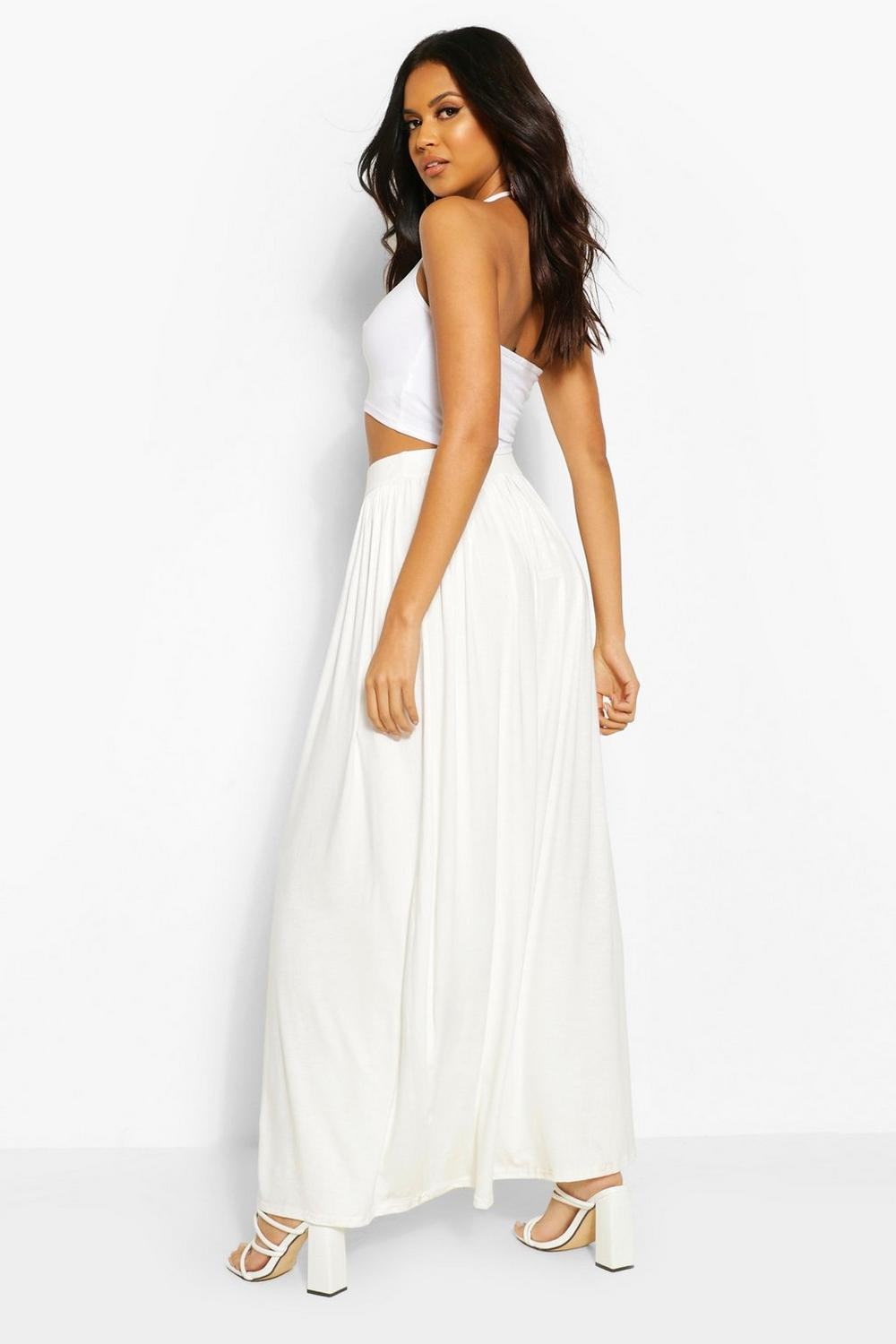 Sophia Floor Sweeping Jersey Maxi Skirt at boohoo.com