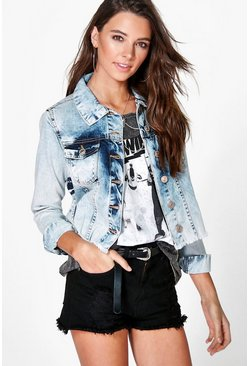 Kim Oversized Distressed Denim Jacket