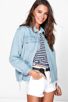 Katie Oversized Distressed Denim Jackets