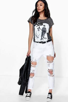 Maisie High Waist Distressed Mom Jeans