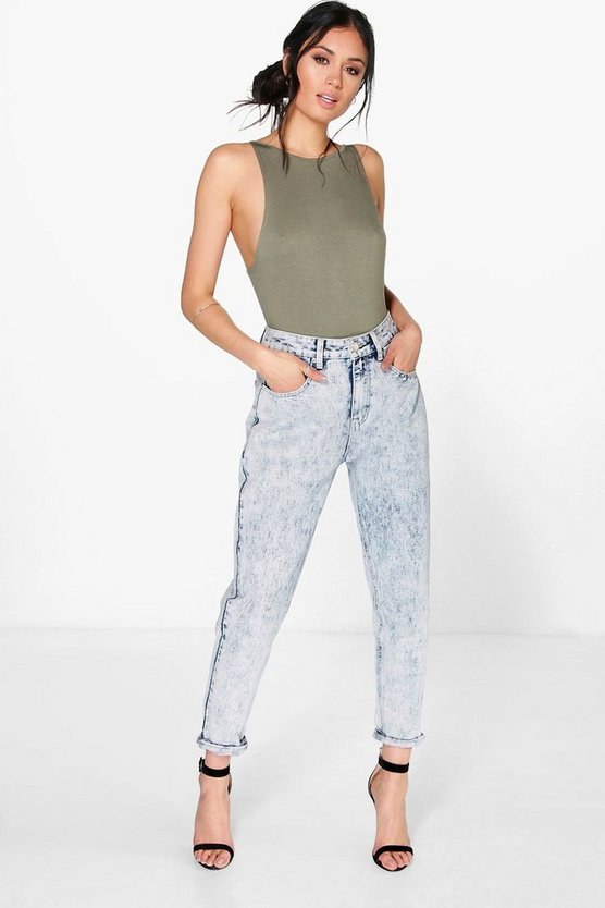 Sophie High Waist Acid Wash Mom Jeans