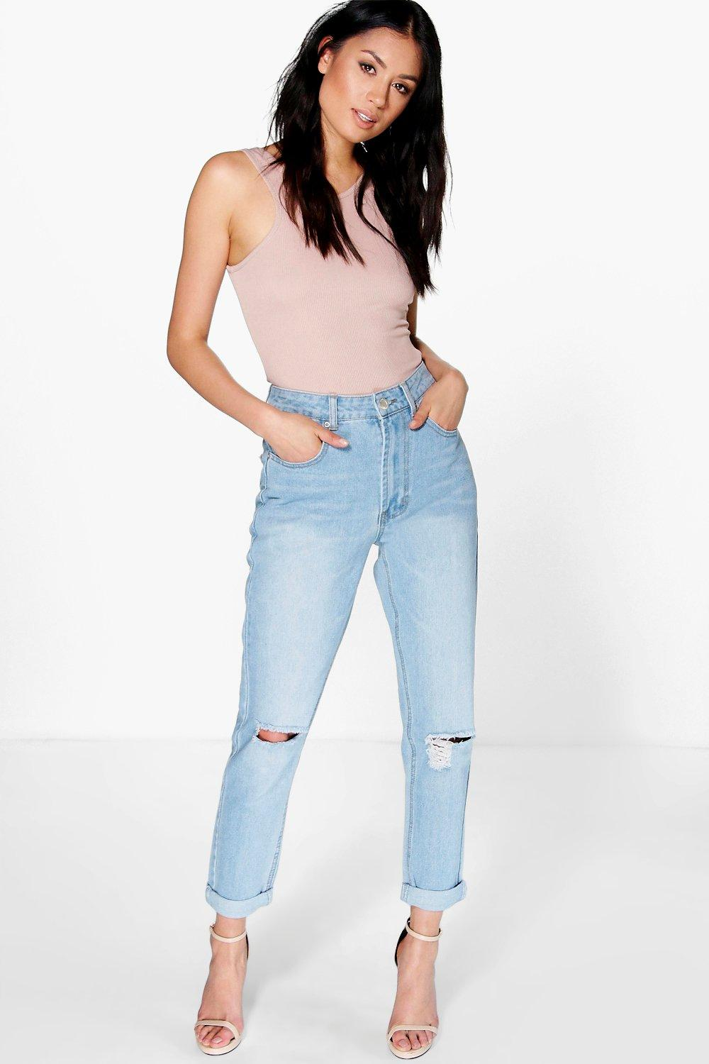 Sophie High Waist Bleached Mom Jeans