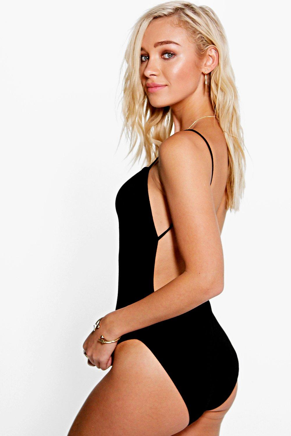 Leah Backless Jersey Body