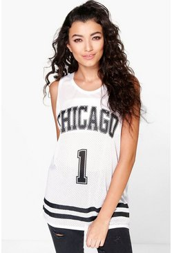 Rosie Chicago Sports Mesh Sleeveless Vest