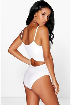Lydia Open Back Ribbed Bodysuit
