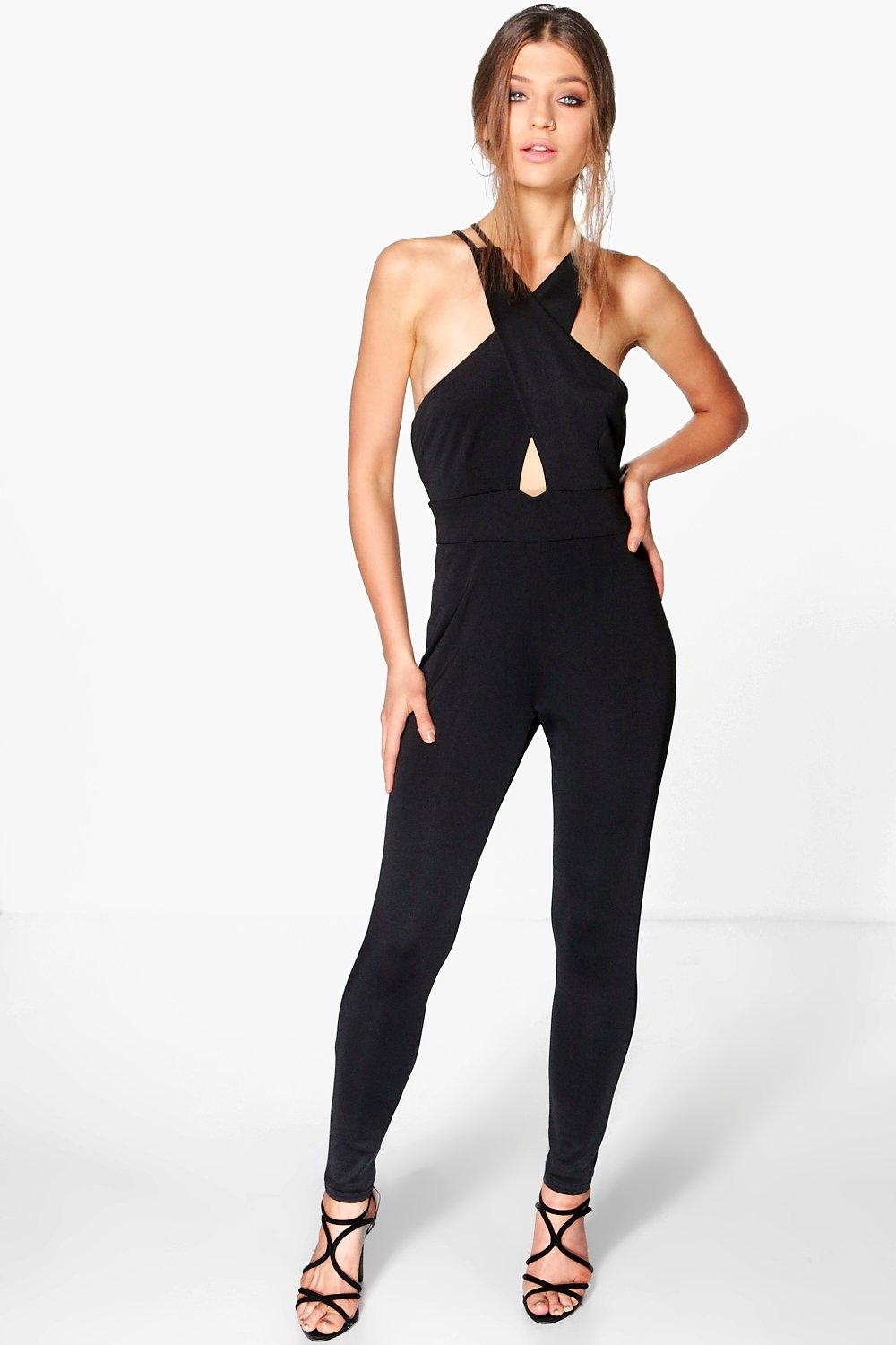 Eva Cross Top Strappy Skinny Leg Jumpsuit