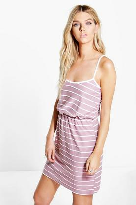 Lavina Textured Stripe Skater Dress