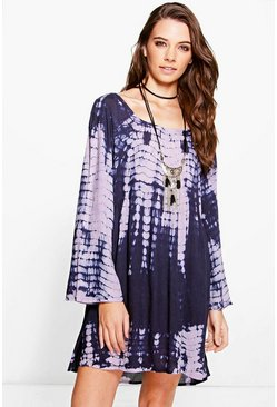 Alisandra Tie Dye Smock Dress