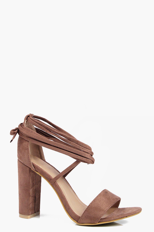 Emma Wrap Strap Block Heel Sandal