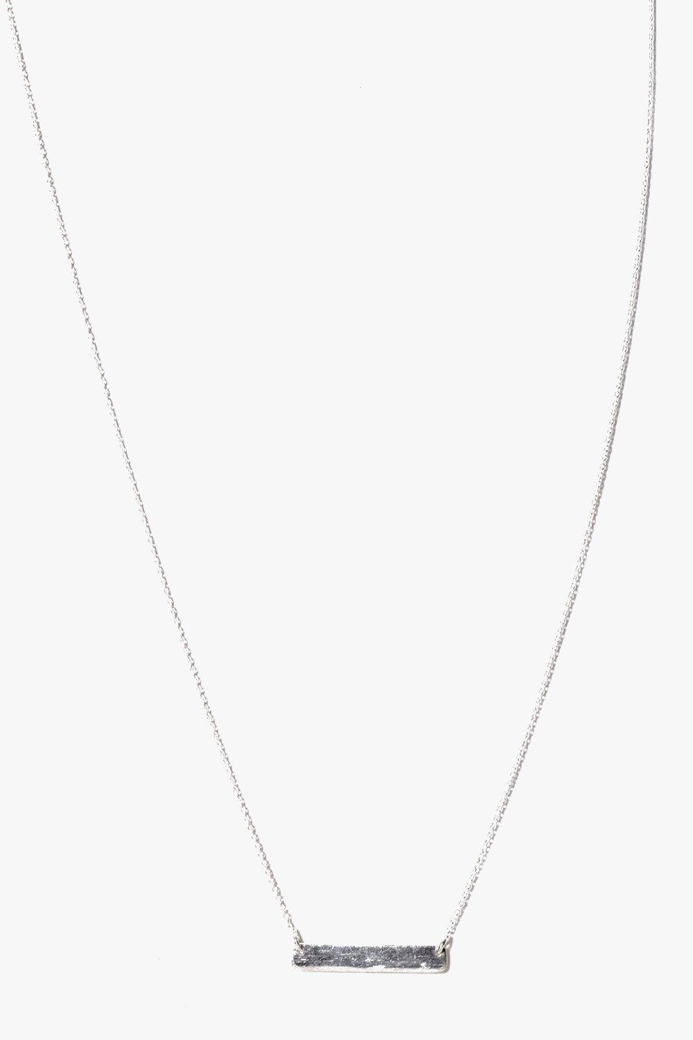 Boutique Sterling Silver Bar Skinny Necklace