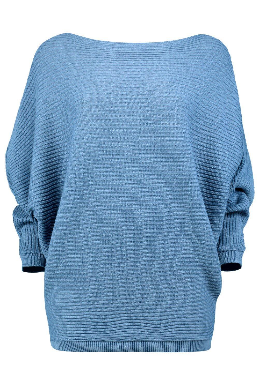 Batwing Jumper Knitting Pattern Free : Boohoo Womens Amelia Oversized Rib Knit Batwing Jumper eBay