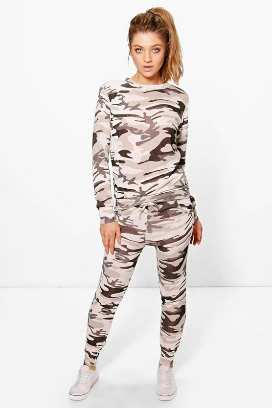 Nicole Camo Knitted Loungewear Set