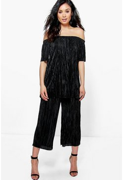Kira Off The Shoulder Pleated Culotte Co-Ord Set