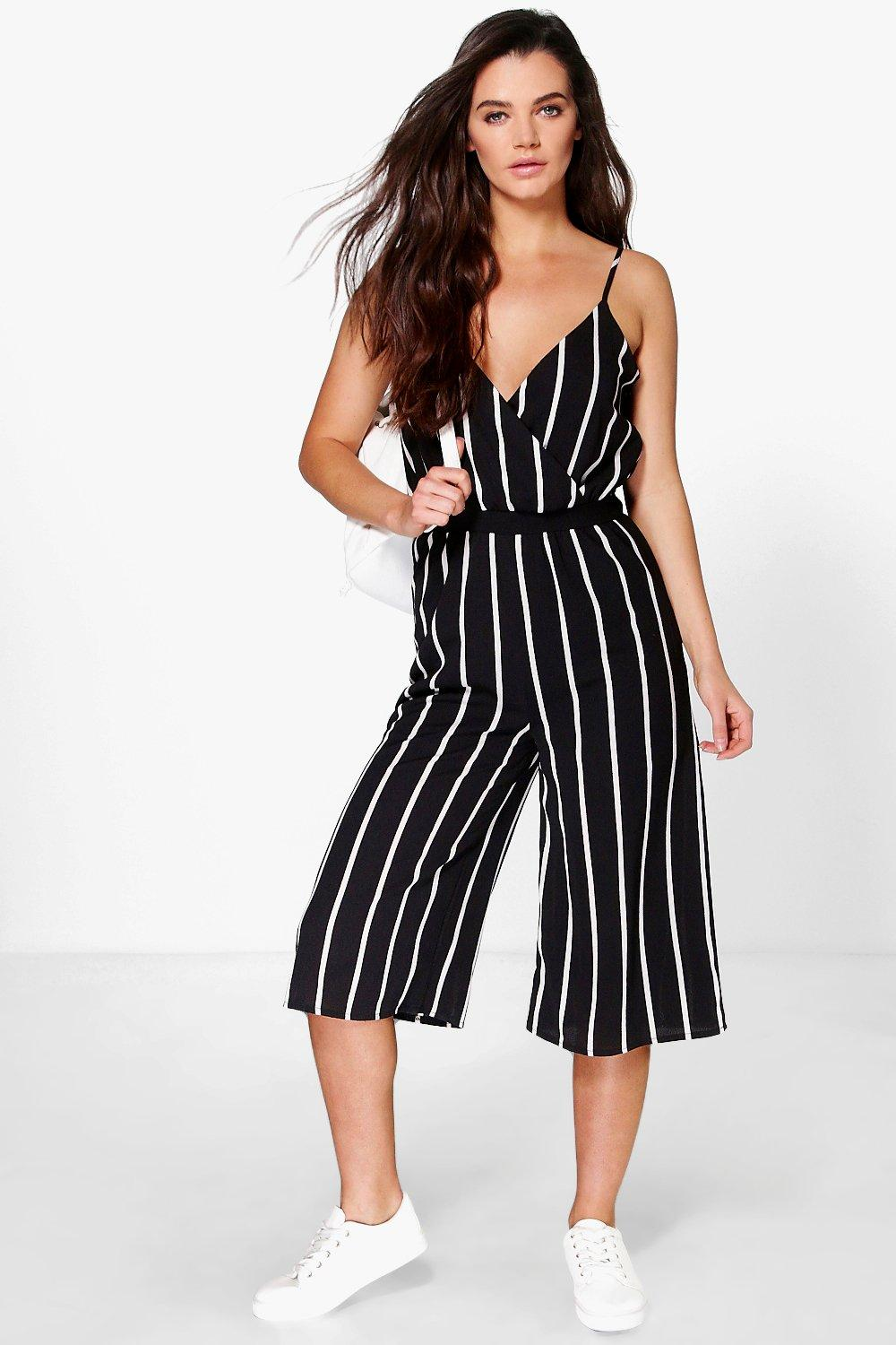 Bella Wide Stripe Culotte Jumpsuit