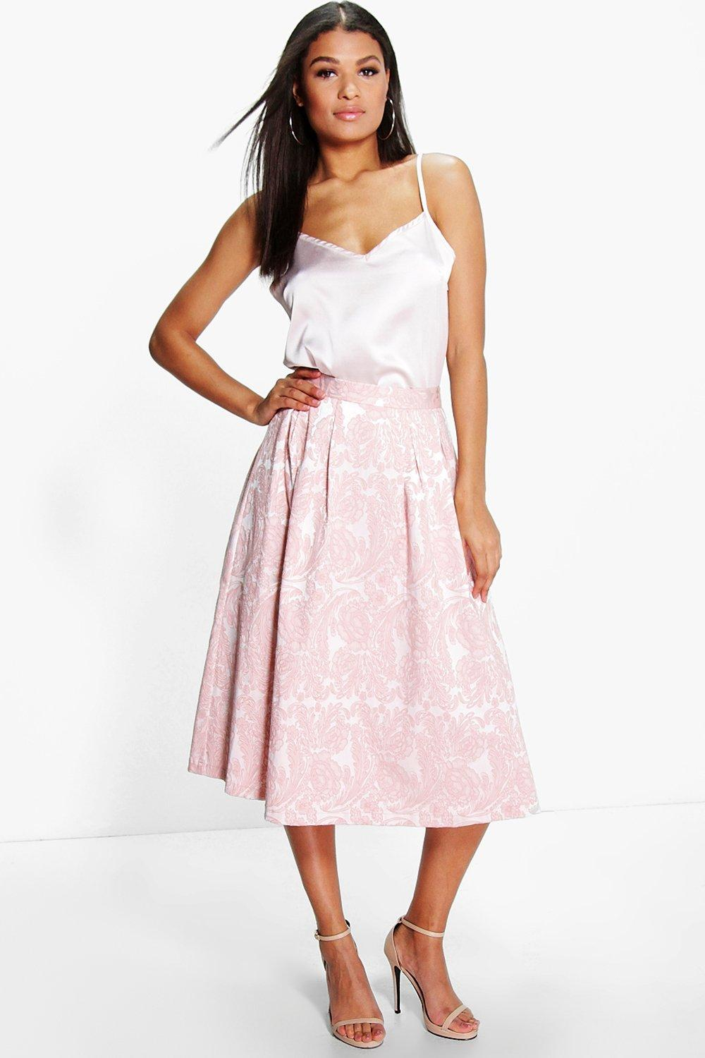 Boutique Ida Cami & Jacquard Midi Skirt Co-Ord Set