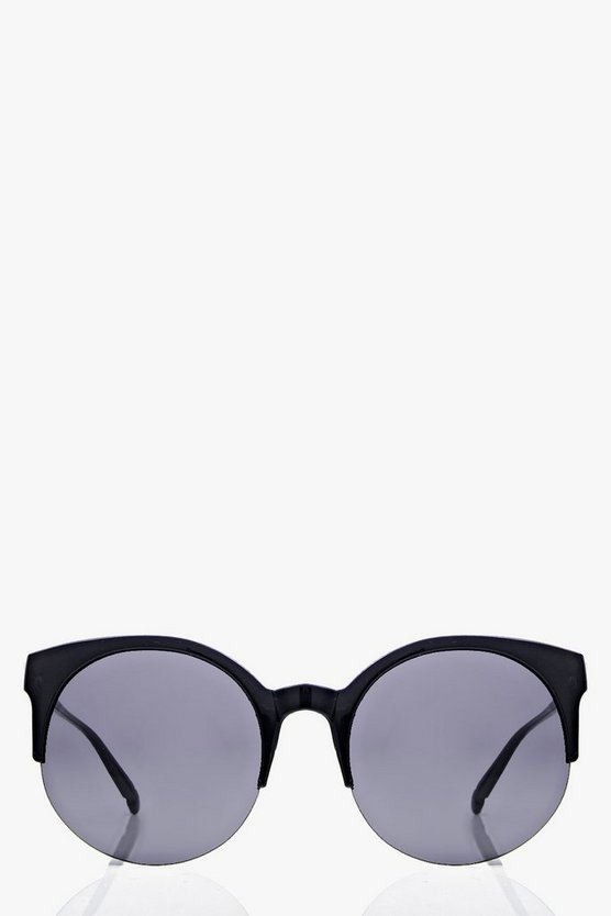 Anna Half Frame Cat Eye Sunglasses