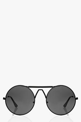 Amy Round Minimalist Aviator Sunglasses
