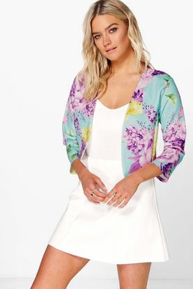 Darcy Floral Crop Marcella Jacket