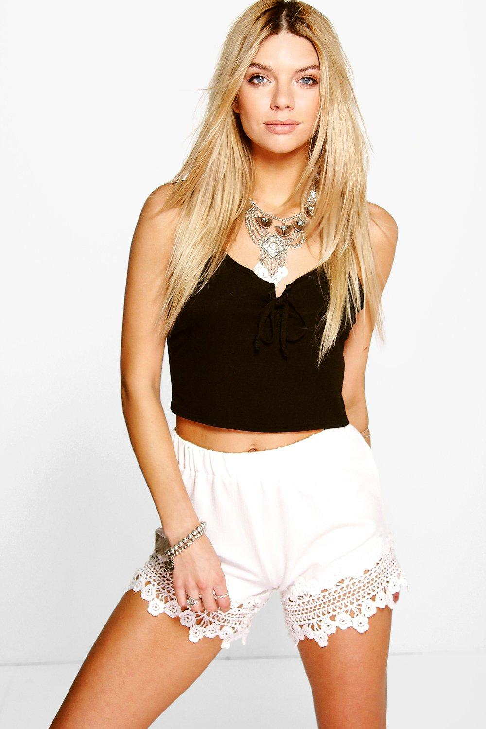 Alex Crochet Trim Festival Shorts