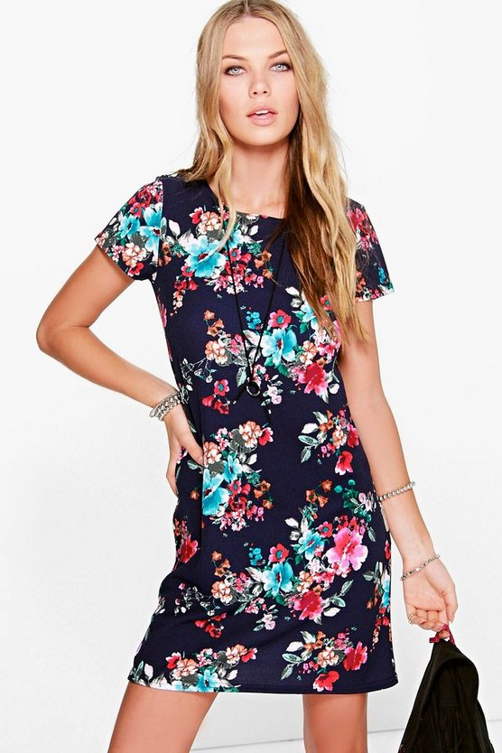 Louisana Cap Sleeve Shift Dress