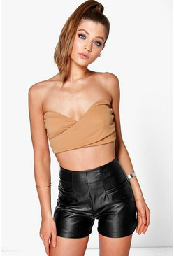 Sophie Textured Wrap Over Bandeau