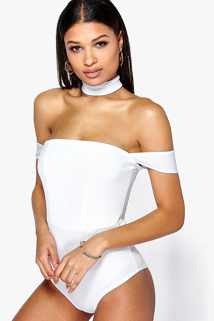 Phoebe Detachable Choker Bodysuit