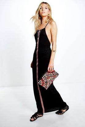 Savannah Tape Front Ethnic Maxi Dress
