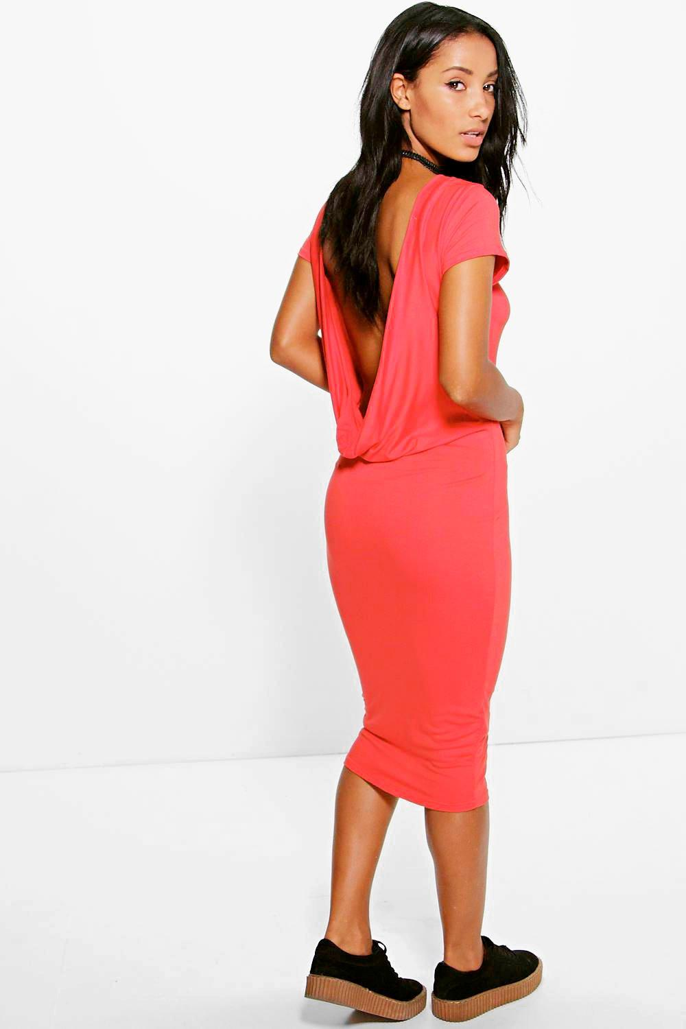 Candice Drop Back Midi Dress