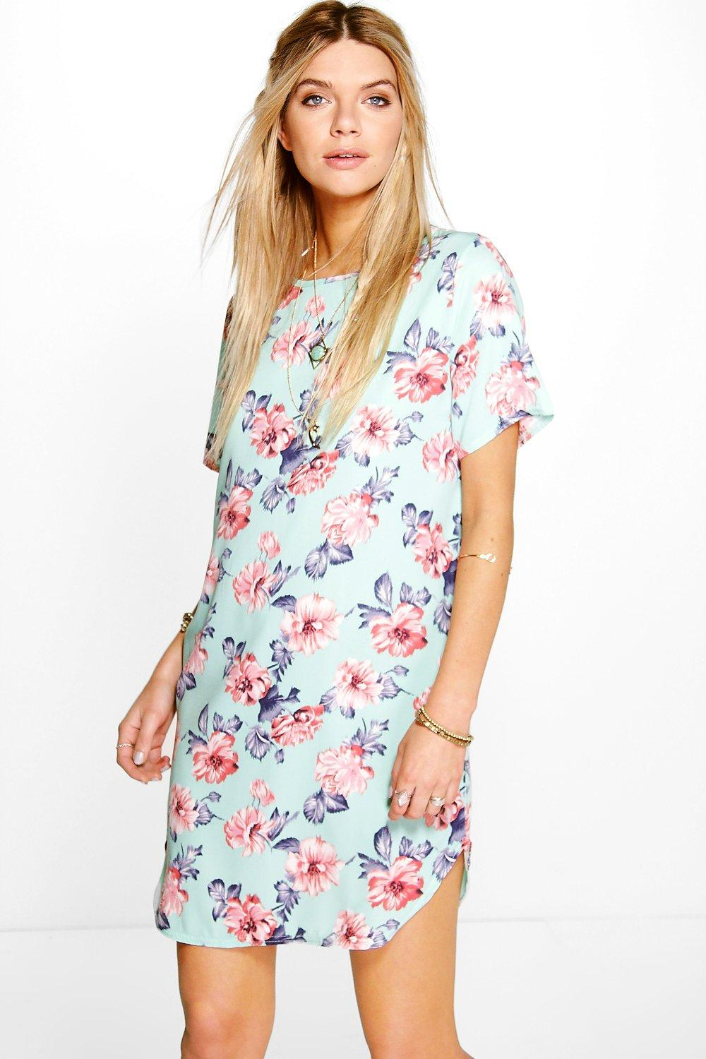 Luanna Cap Sleeve Shift Dress
