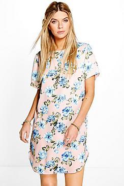 Luanna Cap Sleeve Shift Dress