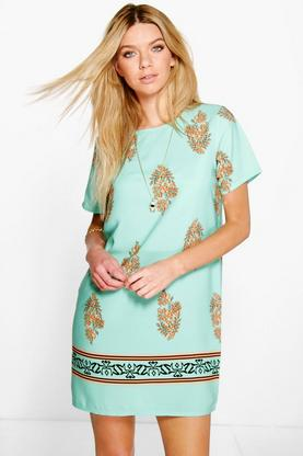 Rebecca Cap Sleeve Shift Dress